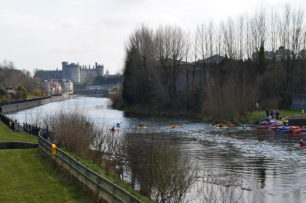 Paddlefest Kilkenny 2013 on the river Nore up from Kilkenny Castle. Copyright: Keep Kilkenny Beautiful