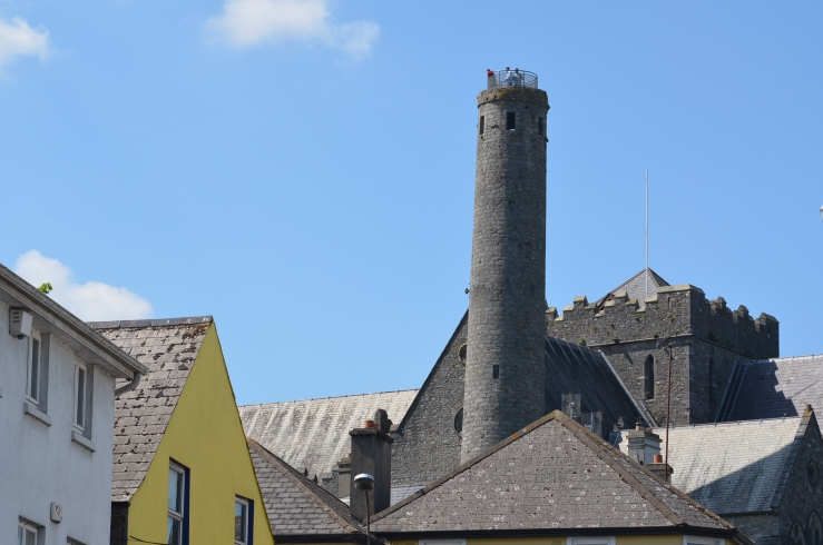 St Canice's quarter, historic round tower and St Canice's Cathedral