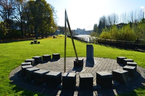 peace park sun dial Kilkenny