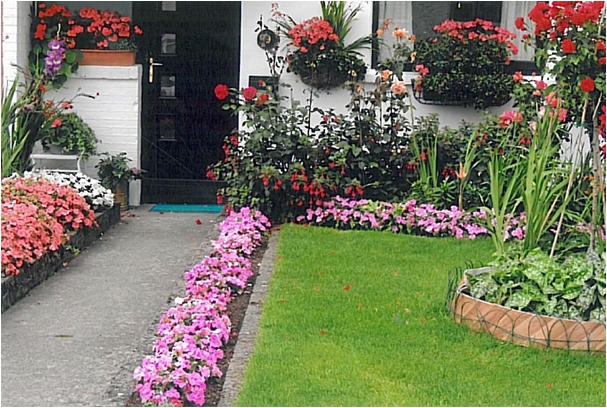 Winner of the best garden in St Mary's parish  and also overall city winner in Kilkenny City in 2013 Catherine Duffy,  Fr Delahunty Place