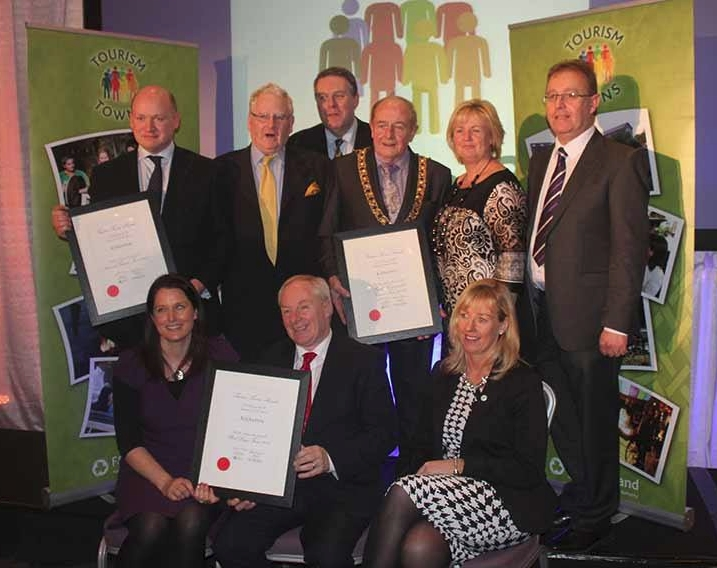 Kilkenny City delegation following award. (Bord Failte)