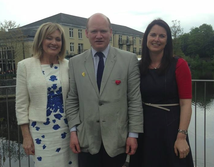 Mary Kennedy of RTE Nationwide with  David Fitzgerald KKB Chairman and Nora Darcy KKB PRO