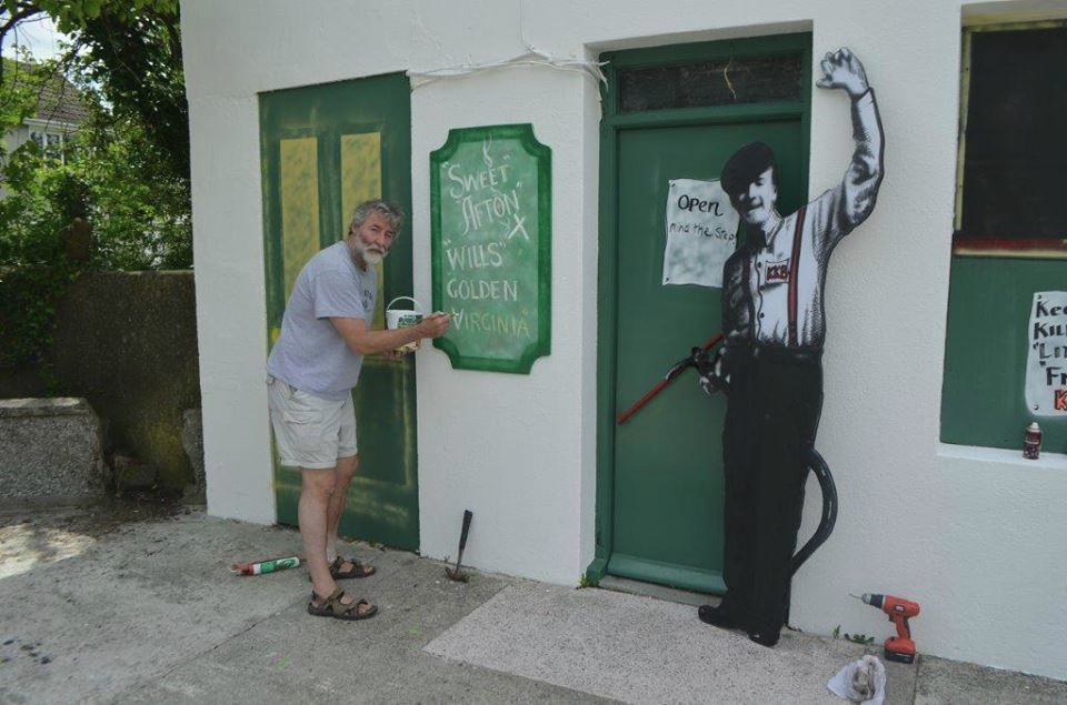 Andrew getting the artwork right