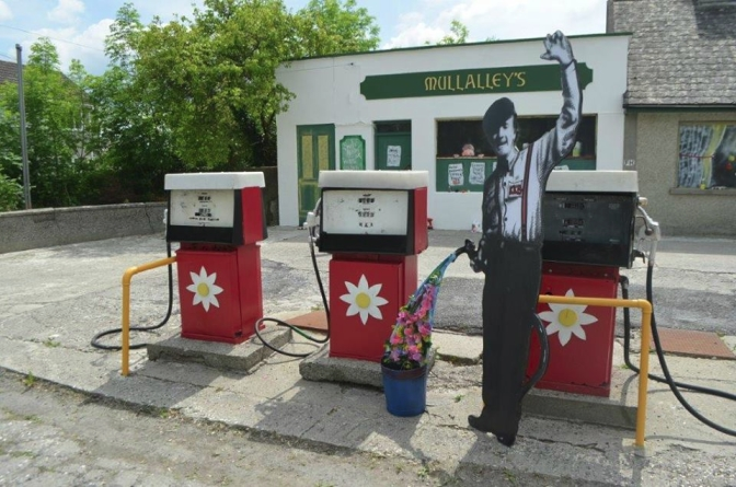The filling station is now pumping flower power!