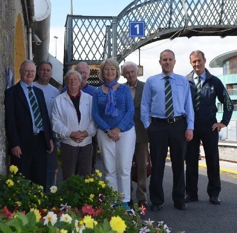 Wembers of KKB celebrate with  Kilkenny railway station Staff.  Kilkenny is Ibal  No.1 in Ireland.