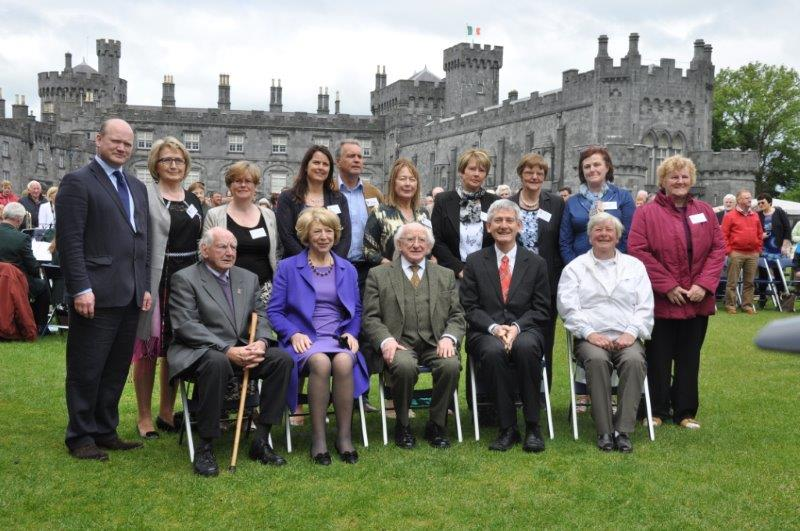 Members of the KKB team with President Higgins and Sabina Higgins