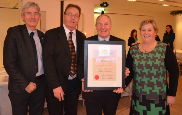 Members of Kilkenny City Delegation with  the Minister of State for Tourism and Sport, Michael Ring at the Tourism Towns awards 2015