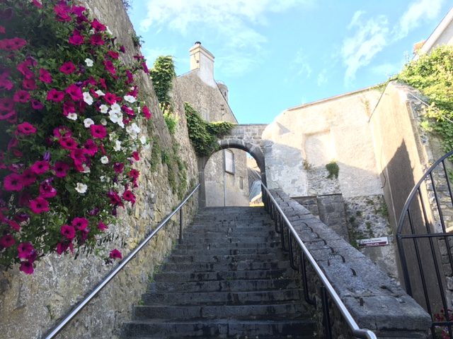 St Canice's steps leading to St Canices's Cathedral