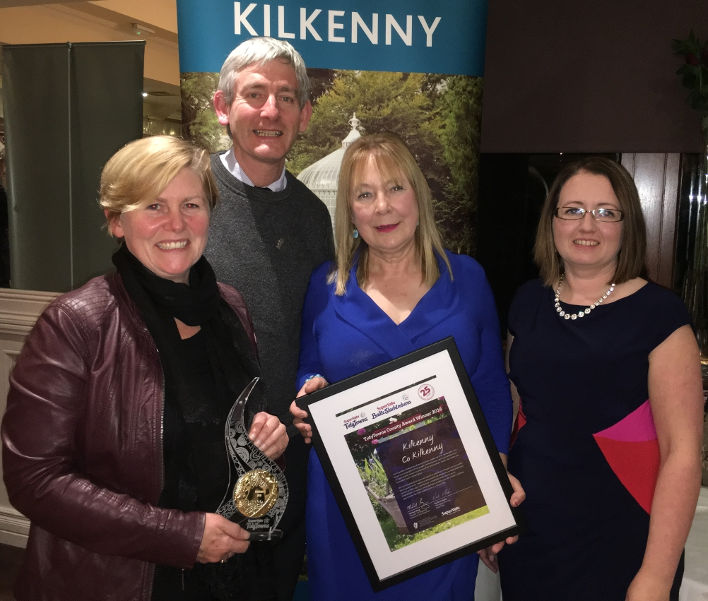 Members of Keep Kilkenny Beautiful following the receipt of the awards with Miss Bernadette Moloney of Kilkenny county council